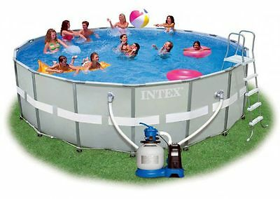 Intex Ultra Frame Pool Komplett-Set 549x132 , Sandfilter  28332GS