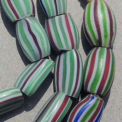 22.5 inch 57cm strand hot pressed 3 layer chevron african trade beads #44