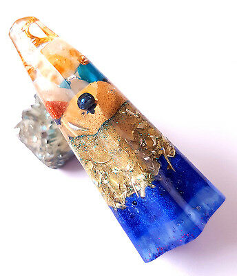 WAND Orgonite Healing Energy Crystal Ornament Decoration gift BLUE  flower GIFT
