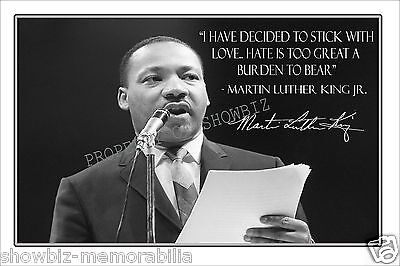 Martin Luther King Jr Signed Autograph Photo Poster - Great Piece Of Memorabilia