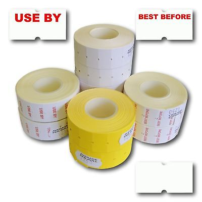White Yellow Permanent Peelable Blank Pre-Printed CT1 22 x 12mm Price Gun Labels
