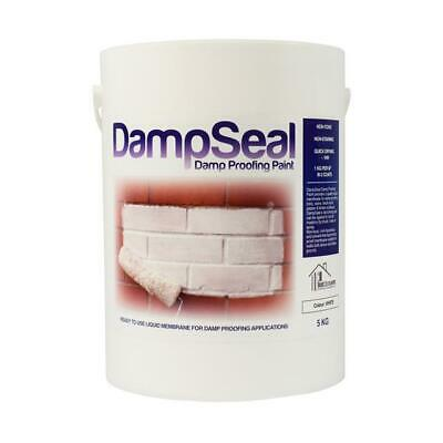 Damp Proof Paint 5Kg WHITE | DAMPSEAL DPM Wall Floor Waterproof Liquid Membrane