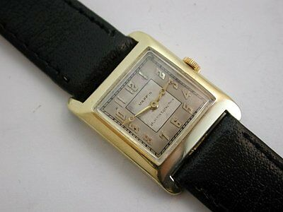 Fabulous Top Name 1930s VACHERON & CONSTANTIN Art Deco 18ct Gold Wrist Watch