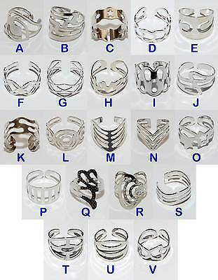 Stainless Steel Plated Costume Thumb or Toe Rings  Choice of Designs. Adjustable