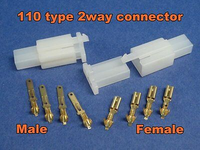 2 Pins Electrical Wire Connector Terminal Cable Wire harness X 1 kit Plug #110