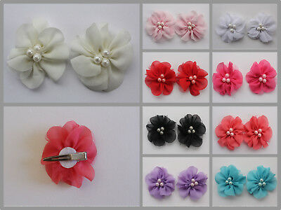 One Pair Baby Girl Hair Clips Infant Toddler Women Flower Hairpin Accessories