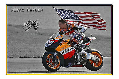 *nicky Hayden* Large Signed Autograph Poster Photo Print, Grab Your's Now!