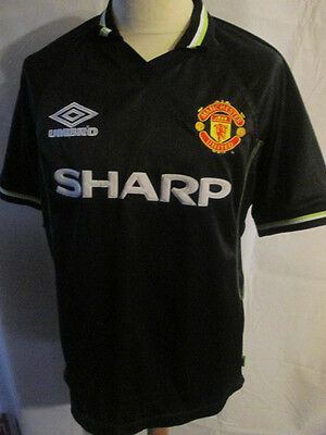 Manchester United 1998-1999 Third 3rd Football Shirt Size Large /34181