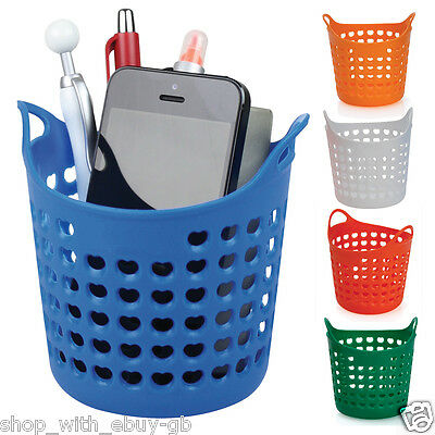 Desk Wash Basket / Tidy - PEN PENCIL & PHONE HOLDER POT - OFFICE STATIONERY