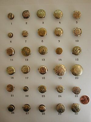Selection of Antique Victorian Pretty Gold Fronted Single Studs / Lapel Pins