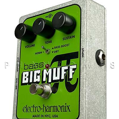 Electro-Harmonix Bass Big Muff Pi Fuzz/Distortion/Sustainer Effects Pedal - NEW!