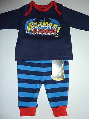 BATMAN IN TRAINING! 2 Piece Set First Size (up to 9lbs) NWT