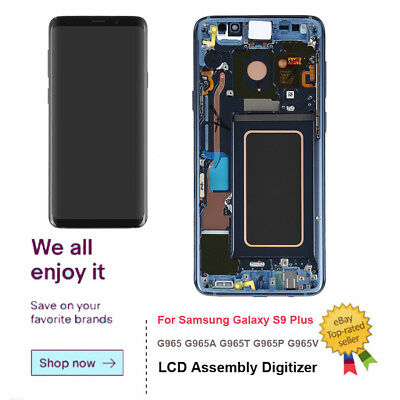 OEM LCD Screen Touch Screen Digitizer Frame For Samsung Galaxy S9 Plus Blue