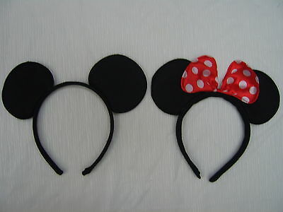 Mickey Mouse and Minnie Mouse Ears Headband Disney Costume Fancy Dress