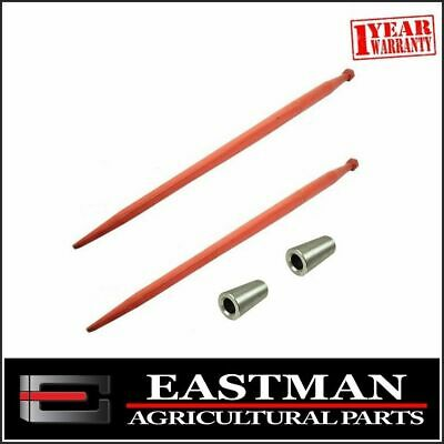 Tractor Loader Tine Kit Straight Conus 2 1100mm - Bale Hay Silage Forks Tyne