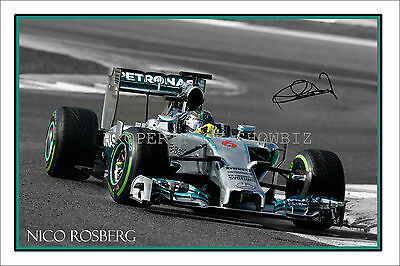 * NICO ROSBERG * Signed Mercedes Autograph Poster ! Large size! Dont Miss Out!