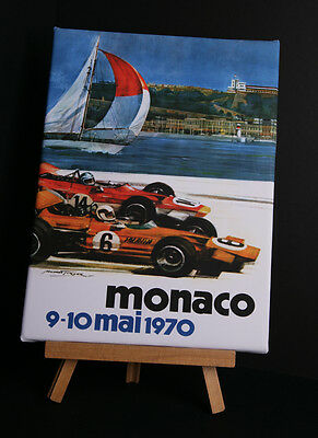 Monaco 1970 Canvas Print Stretched And Framed