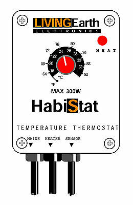 HABISTAT TEMPERATURE STAT Reptile Vivarium THERMOSTAT