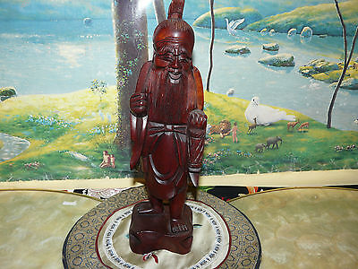 Very Nice Large Chinese Wood Carving of Old Immortal