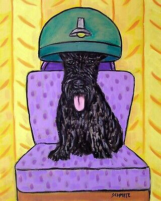 SCOTTISH TERRIER pet salon picture dog art  4x6  GLOSSY PRINT
