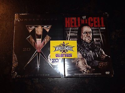 Gaiam Americas Wwe-undertaker-streak 4 Disc And Hell In A Cell Double Pack  New