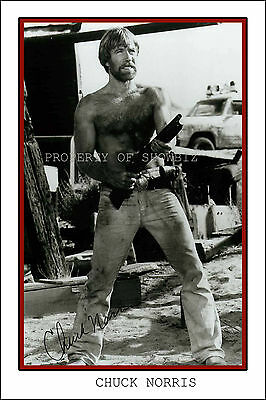 *chuck Norris* Large Signed Autograph Poster Photo Print Of The Action Hero Icon