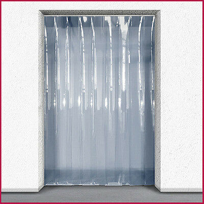 PVC Strip Curtain / Door Strip Kit - 1m (w) x 2.5m (d) - 200mm x 2mm Strips