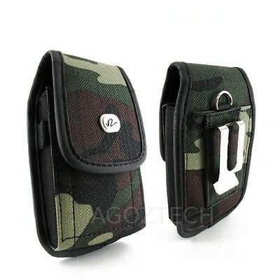 Camouflage Rugged Canvas Case for Cell Phones COMPATIBLE WITH Otterbox Defender