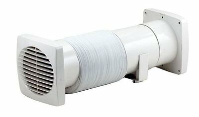"Marley 5"" 115mm Induct Bathroom Wall Ceiling Shower Extractor Induct Utility Fan"