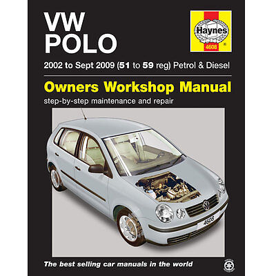New Haynes Manual VW Polo 02-09 Car Workshop Repair Book 4608 Volkswagen Fix
