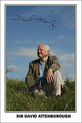 * Sir David Attenborough * Large Signed Autograph Poster Photo Print *