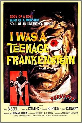 I Was A Teenage Frankenstein ~ 8x10 Classic 50s Poster #1