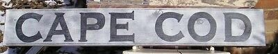LARGE 4FT VINTAGE LOOK CAPE COD WOOD SIGN RUSTIC  PRIMITIVE, Maritime Sign