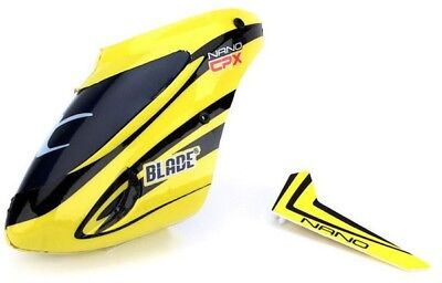 Blade BLH3318 Nano CP X Complete Yellow Canopy with Vertical Fin CPX nCPX nCP X
