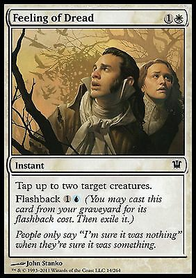 4 Feeling of Dread ~ White Innistrad Mtg Magic Common 4x x4