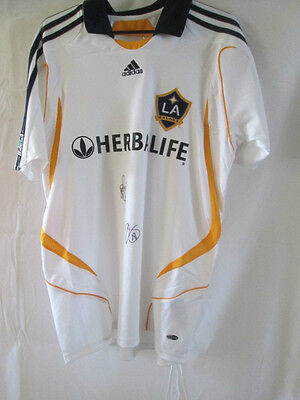 La Galaxy Signed Mike Magee Leonard Griffin Football Shirt with COA /8089
