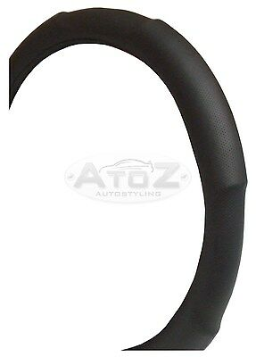 Steering Wheel Cover Protector Interior Cover Glove BLACK Padded <<NEW>>