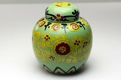 Japanese Chinese Porcelain Ming  Celadon Imperial Yellow Ginger jar Tea Caddy