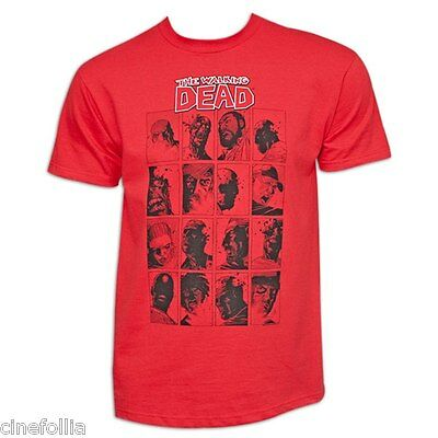 T-shirt The Walking Dead Red comic character portrais Uomo ufficiale Serie tv