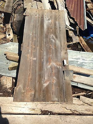 "Antique Barn Wood Door 71"" x 29 1/2"" With 1 Hinge 4 1/2""."