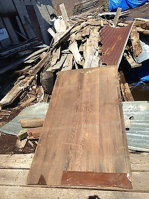 "Antique Barn Wood Door 79"" x 41"" With 2 Hinges 11"" Long."