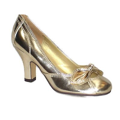 Ladies Midheel High Fashion Casual Work Office Pump Court Shoes Womens F125