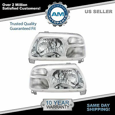 Headlight Headlamp Left LH & Right Pair Set for 99-03 Suzuki Vitara XL-7 Grand