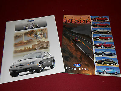 1997 FORD TAURUS 24 p. BROCHURE, SHO Etc. + 16 p. ACCESSORIES CATALOG, 2 for 1