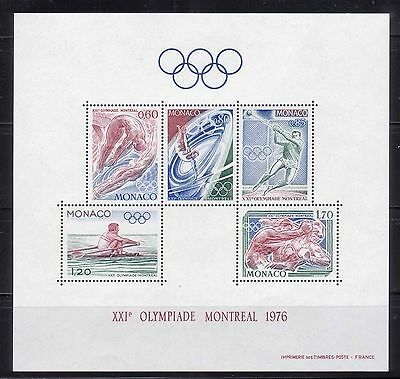 MONACO 1976 MONTREAL 76 SUMMER OLYMPIC GAMES S/S MNH M9227