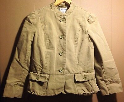 a3c662880ef Womens Old Navy Tan Button Down Fitted Jacket Coat Light Weight Size Small  EUC