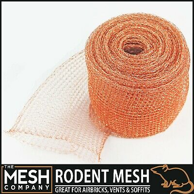 Natural Copper Knitted Soffit Mesh - 125mm Width - 10 Metre