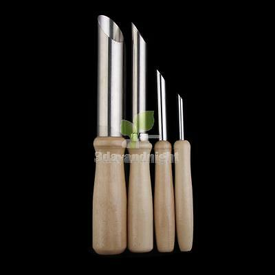 4 Pcs Stainless Steel Circle Shaping Pottery Clay Sculpture Tools