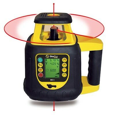 SitePro Dual Grade Rotary Laser with LCD Remote Control 27-SLR202-GR