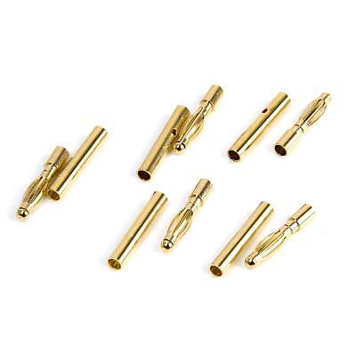 20Pair 2mm Gold-plated Male Female Bullet Banana Plug Connector RC Battery Motor
